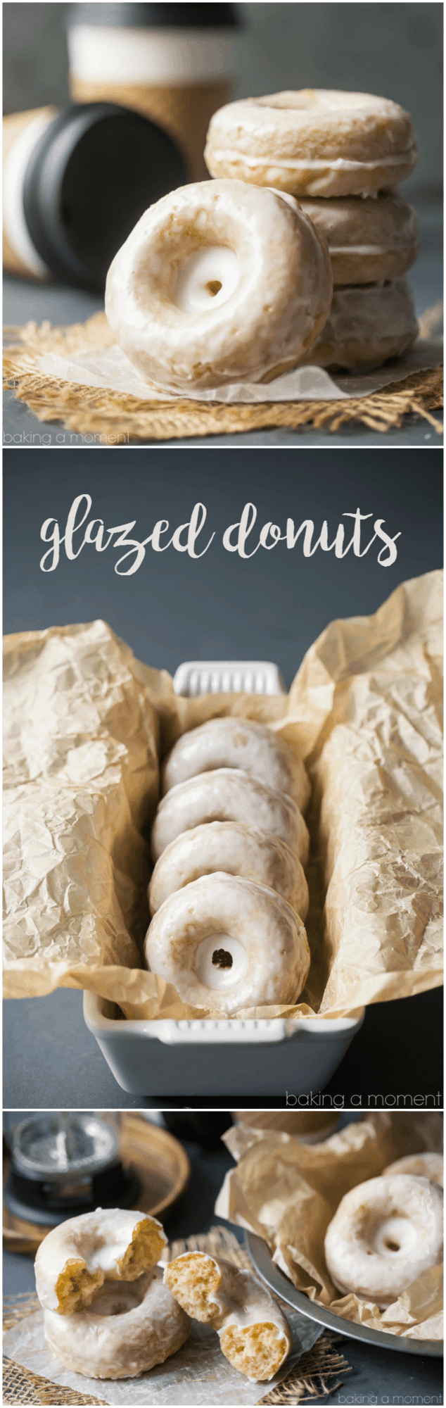 Glazed Donuts: Simple, old fashioned, and SO good.  These sour cream cake donuts are spiked with nutmeg and a hint of vanilla.  food breakfast brunch