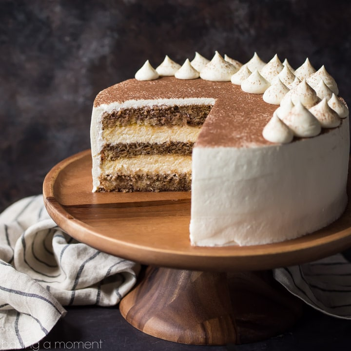 Tiramisu Cake just like the traditional Italian dessert in cake form