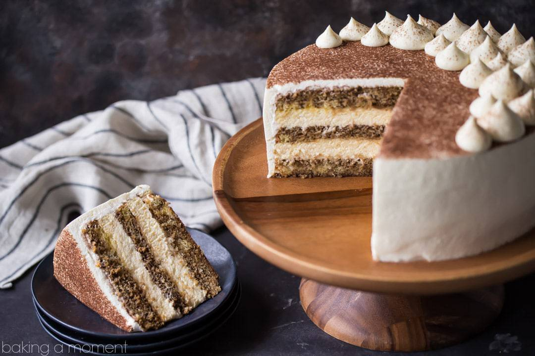 Tiramisu Cake just like the traditional Italian dessert in cake