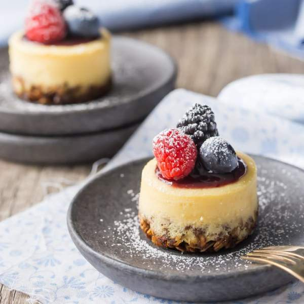 Triple Berry Honey Yogurt Breakfast Cheesecakes Baking A