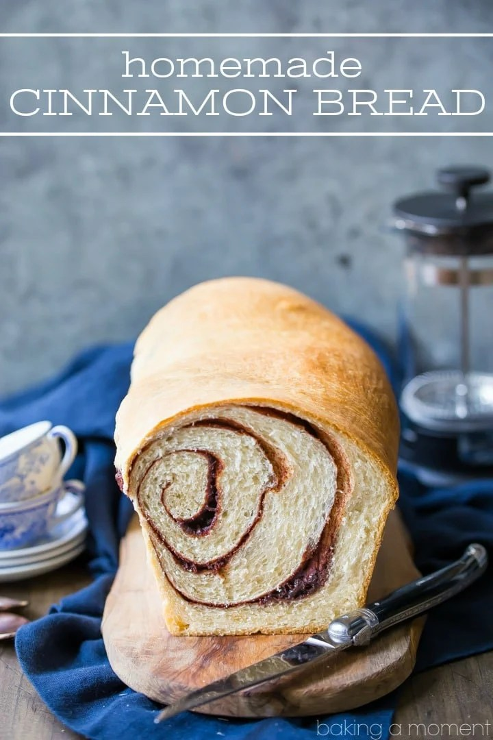 Homemade Cinnamon Bread Recipe: so home-y and comforting!