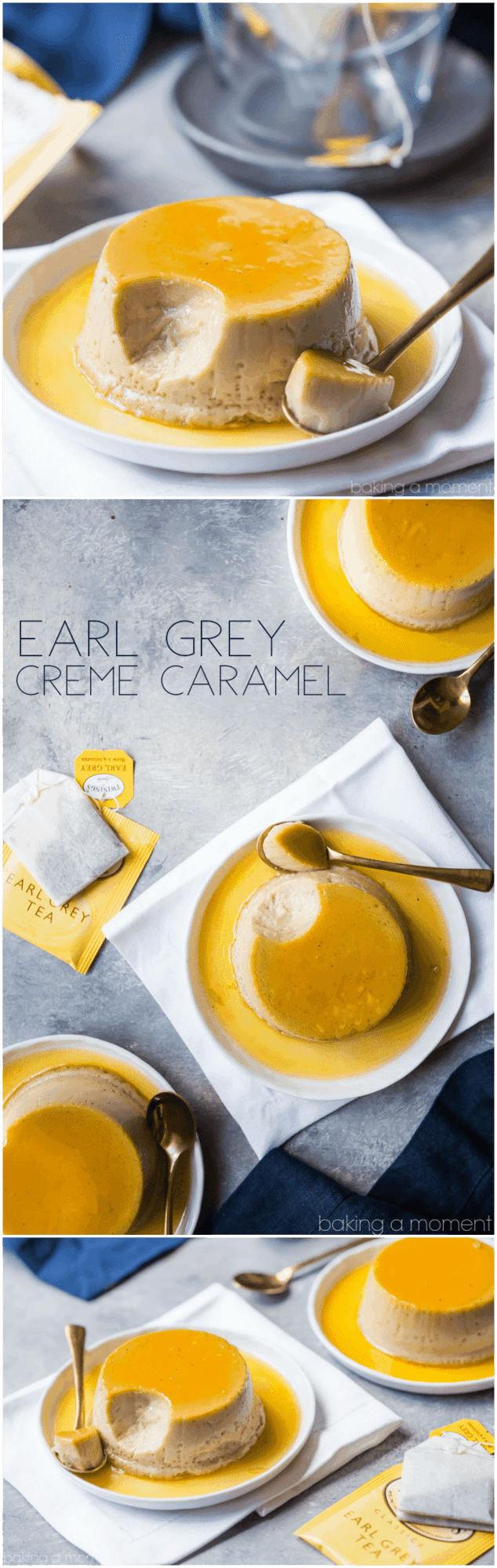 Earl Grey Creme Caramel: such a lovely combination of flavors!  I needed to make quick, easy dessert and this was perfect!  food desserts caramel