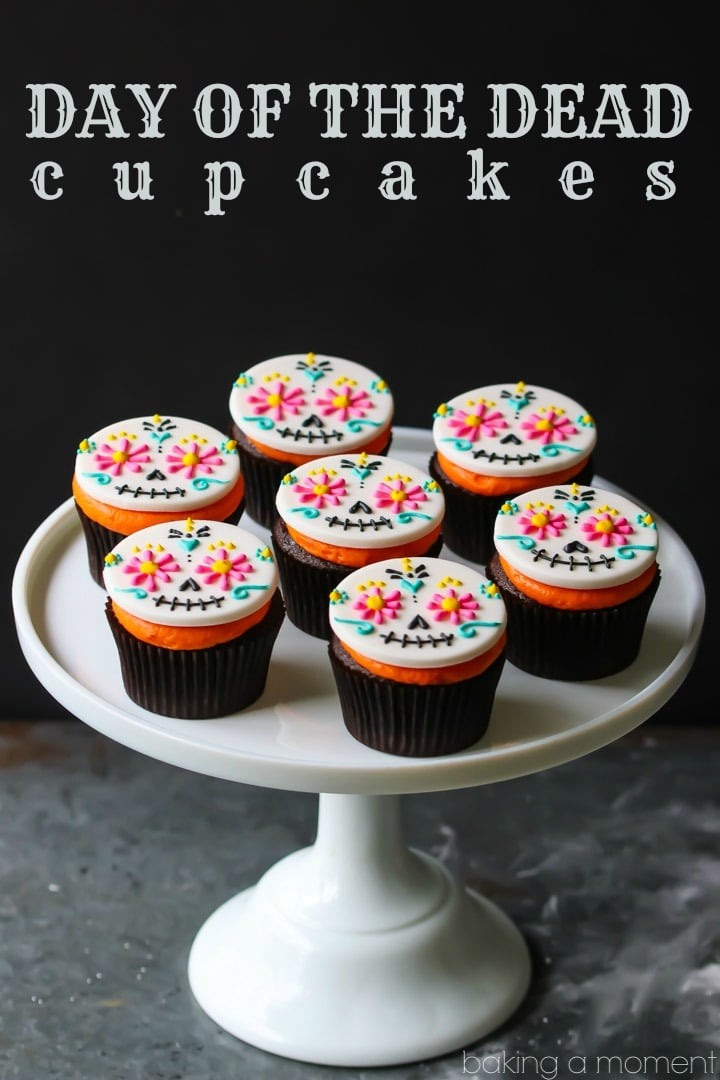 Day of the Dead Cupcakes: so colorful & so much fun for Halloween!  food desserts cupcakes