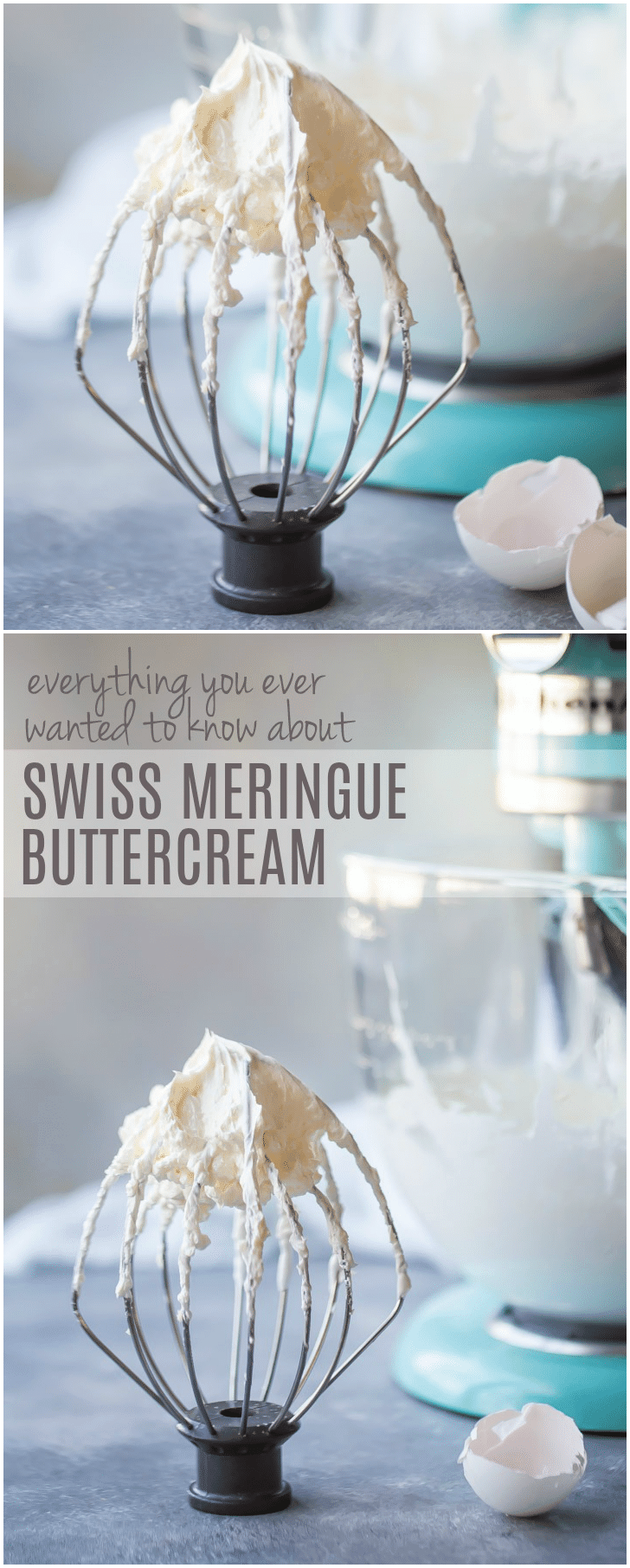 Everything you've ever wanted to know about Swiss meringue buttercream: from how it's made and stored, to what to use it for, and how to flavor it in all sorts of ways. You'll love this light, silky frosting so much! #frosting #icing #recipe #vanilla #chocolate #cake #swissmeringue #strawberry #decorating #raspberry #flavors #filling #howtomake #techniques #tutorial #smooth #ideas