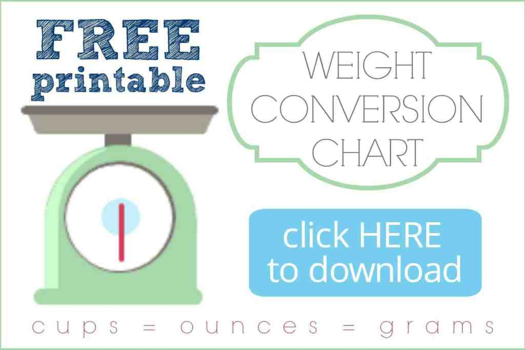 Free Printable Weight Conversion Chart Graphic