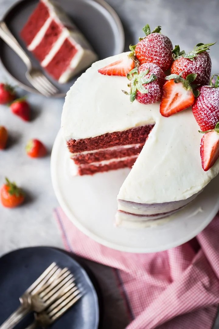 Best old-fashioned red velvet cake from scratch.
