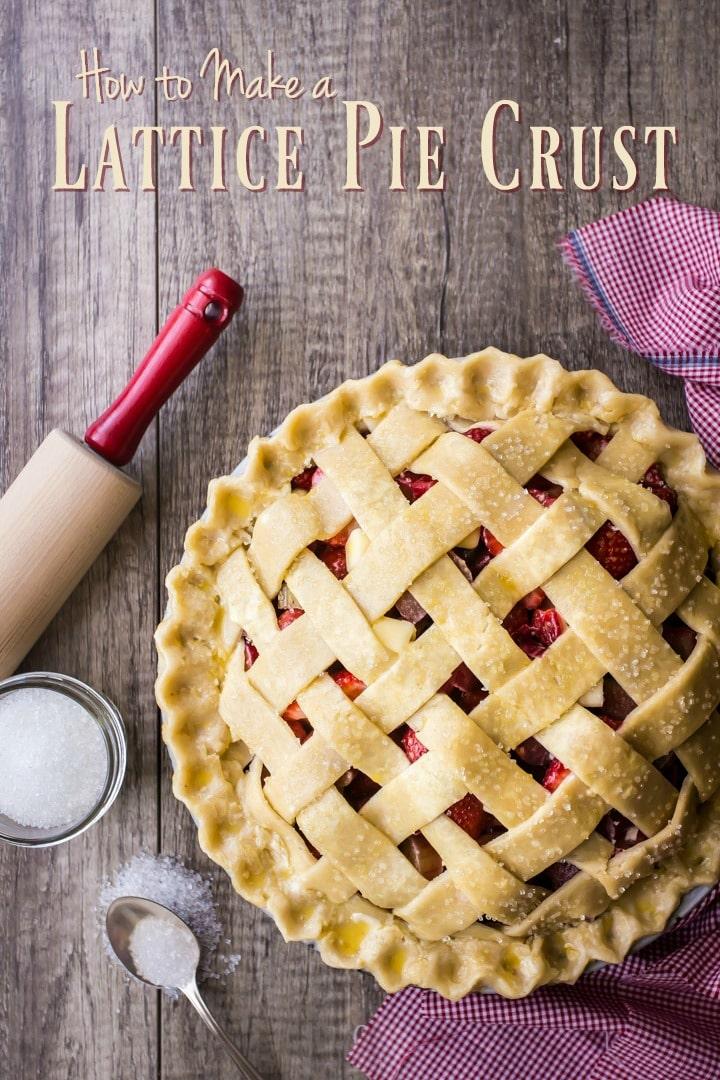 Step-by-Step Lattice Top Pie Crust Video Tutorial.