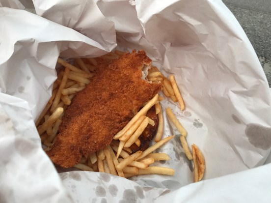 Best fish and chips of my life: crumbled blue cod