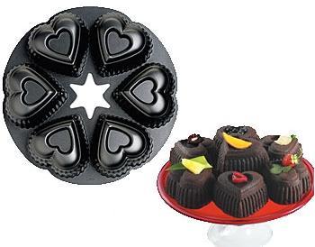 Forminha para muffins/cupcakes, em formato de coração