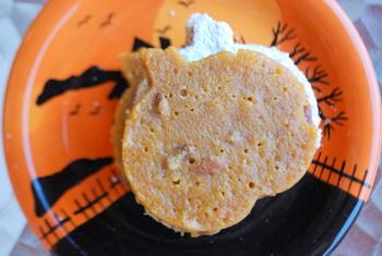 Pumpkin Brownies with Pecans, top view