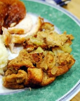 Roasted Garlic Stuffing, served