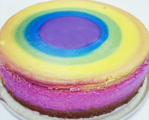 Regenbogen-Käsekuchen – Somewhere over the Rainbow Cheesecake