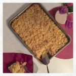Apfelstreusel-Kuchen mit Vanillepudding