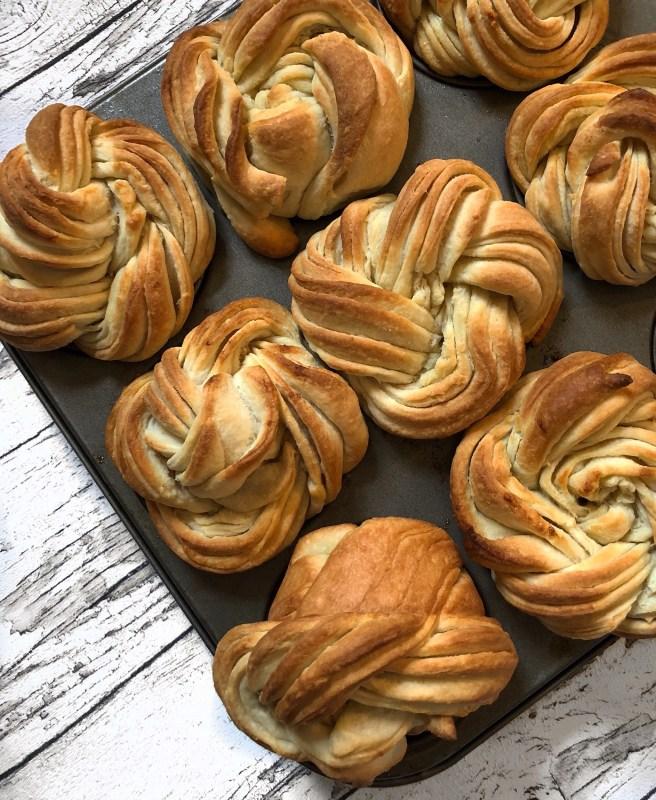 Nahaufnahme Der Cruffin - Croissant + Muffin