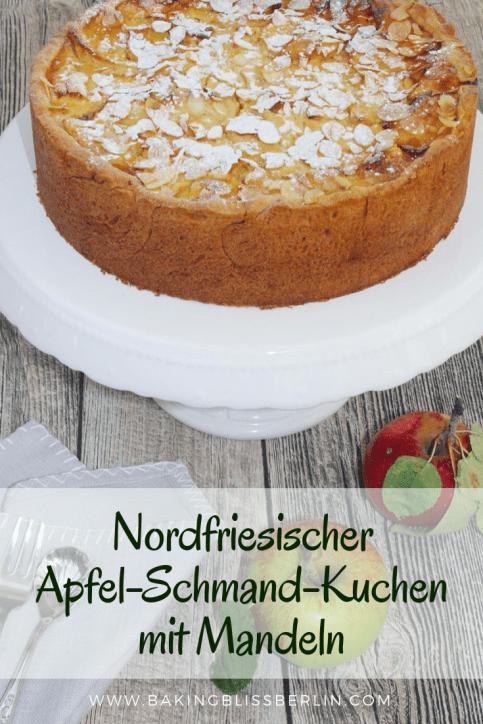 Nordfriesischer Apfel-Schmand-Kuchen mit Mandeln