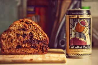 Maui Chocolate Coconut Beer Bread