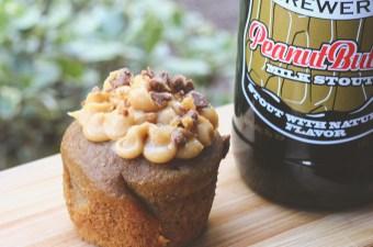 Peanut Butter Milk Stout Cupcakes