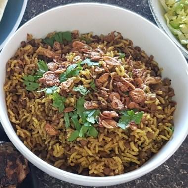 Mejadra pilaf rice