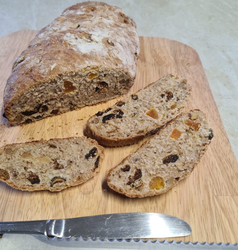 walnut, fig and apricot loaf
