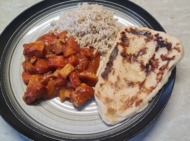 chicken curry with naan