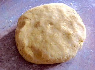 Gently kneaded and ready to roll