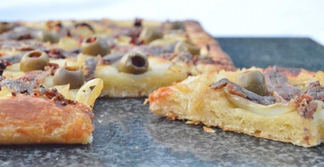 Croissaladière: pissaladière made using croissant dough!