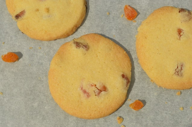 apricot shortbreads: without chocolate adornment!