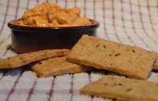 caraway, walnut & cheese biscuits