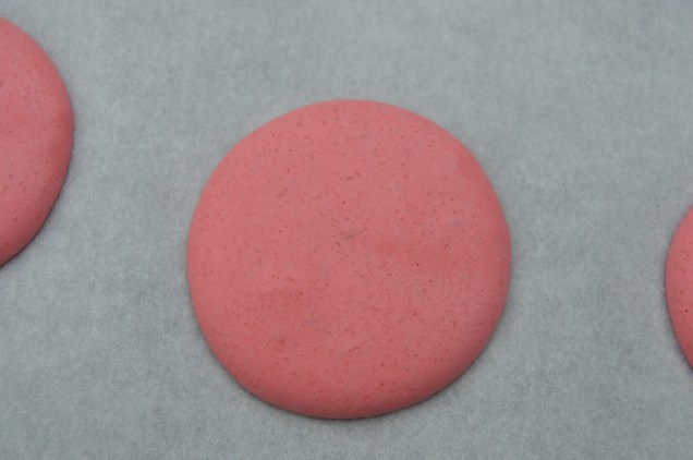 piped with a thin skin on top - a crucial stage when making macarons