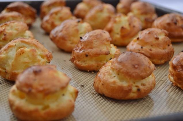 savoury choux baked