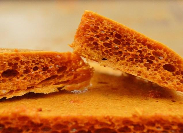 Smoked salted honeycomb