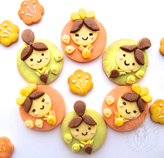 japanese dolls sugar cookies