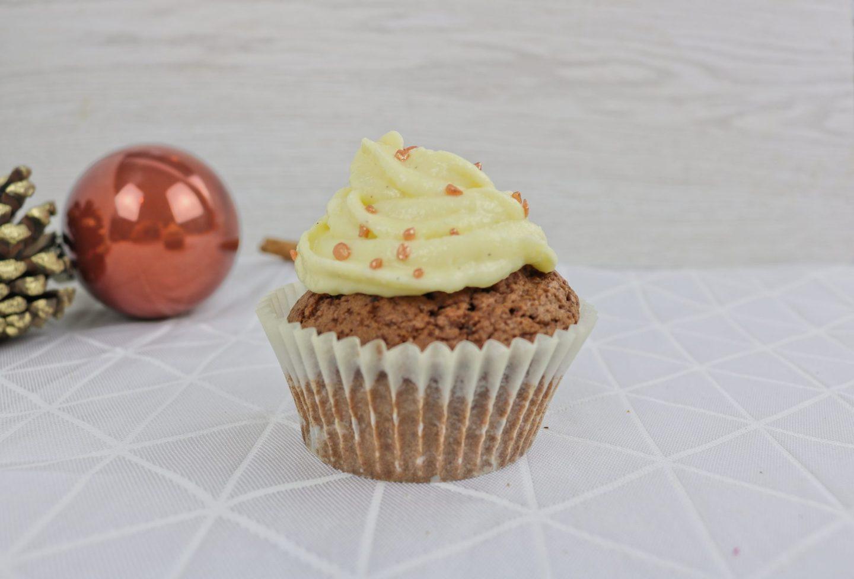 Rezept für Lebkuchen-Cupcakes mit Vanillefrosting