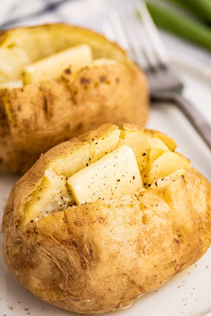 microwave baked potato baking mischief