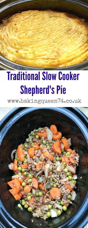 Slow cooker shepherd's pie - a family favourite meal which is so easy to cook in the slow cooker and ideal for autumn and winter when you need a comforting and traditional British dish