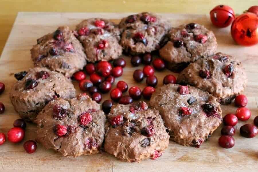 Chocolate Cranberry Scone Wreath