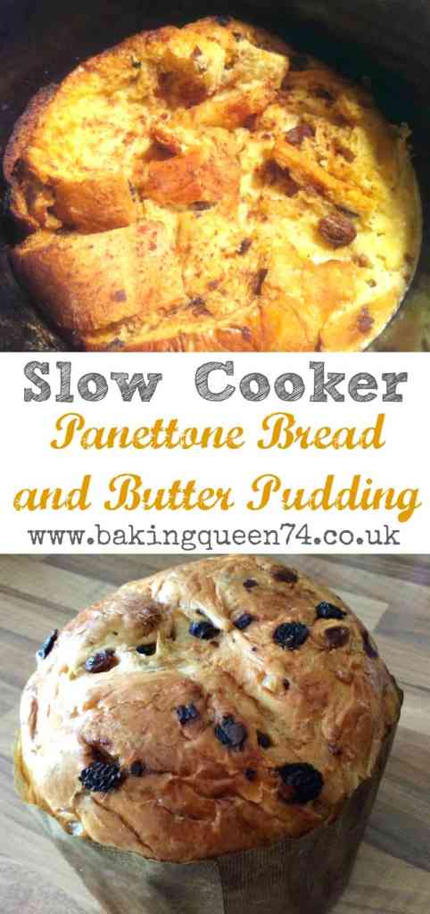 Slow Cooker Panettone Bread and Butter Pudding - a simple festive slow cooker pudding