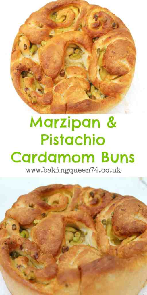 Marzipan and pistachio cardamom buns, a recipe perfect for breakfast