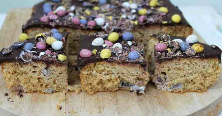 Mini Egg Chocolate-Covered Blondies
