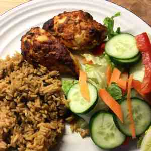 chicken breast with Moroccan Harissa marinade