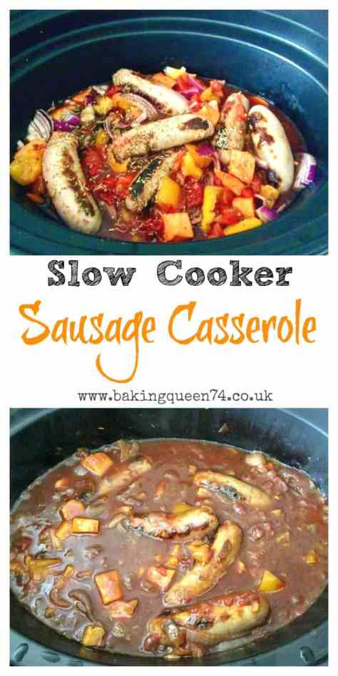 Slow Cooker Sausage Casserole - a delicious and easy family meal