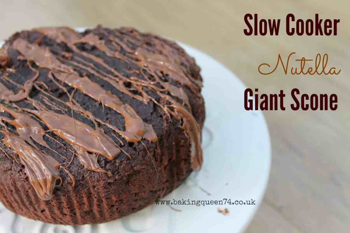 Slow cooker Nutella giant scone