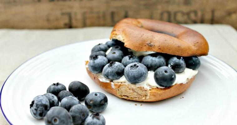 Genius Gluten Free and Blueberry Cream Cheese Bagels