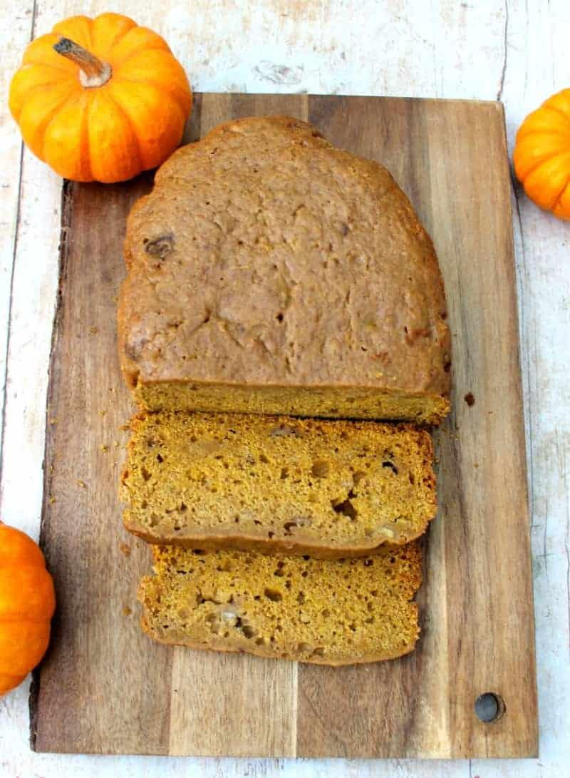 Slow cooker pumpkin banana bread