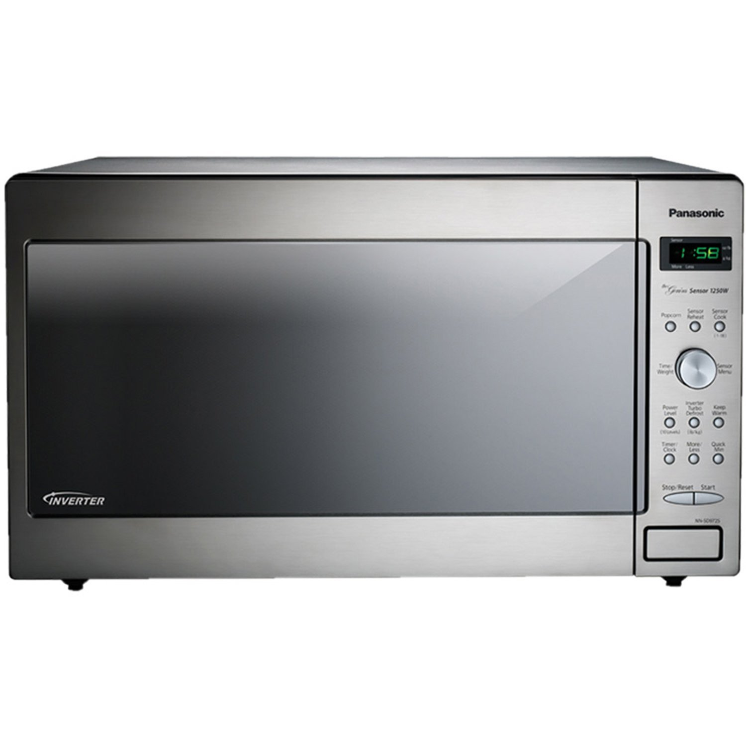 Panasonic NN-SD972S Stainless 1250W 2.2 Cu. Ft. Countertop/Built-in Microwave with Inverter Technology