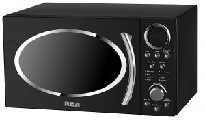 retro black RCA RMW1112 1.1 Cubic Feet Microwave Oven