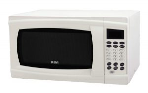 white RCA RMW1112 1.1 Cubic Feet Microwave Oven