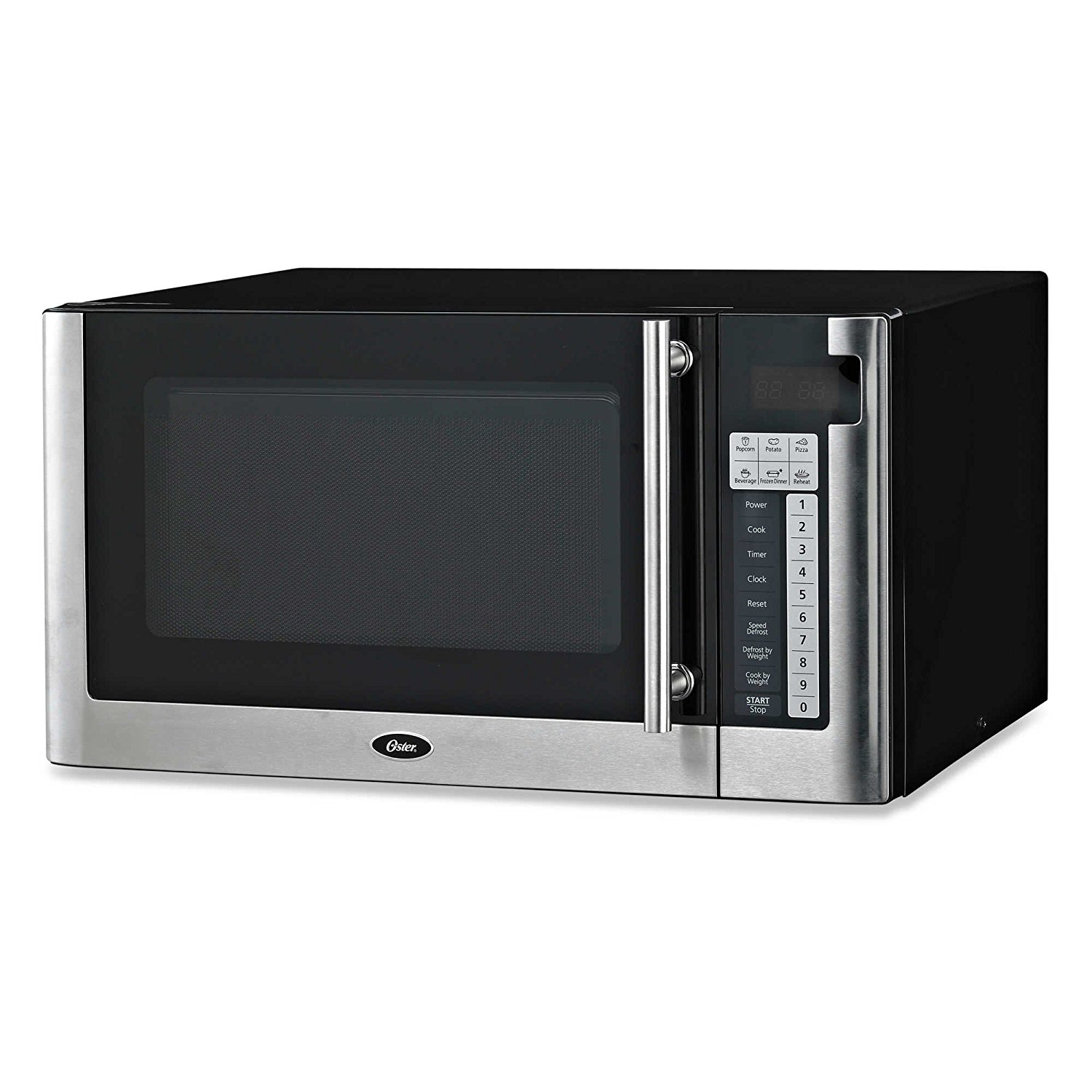Oster Best and Affordable 1.1-cubic Foot Digital Microwave Oven in Black with One-touch Operation and Child-lock Safety Feature by Oster