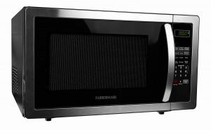 A solid and stylidh microwave oven by Farberware with easy-to-read control panel!