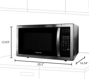 countertop microwave with compact size